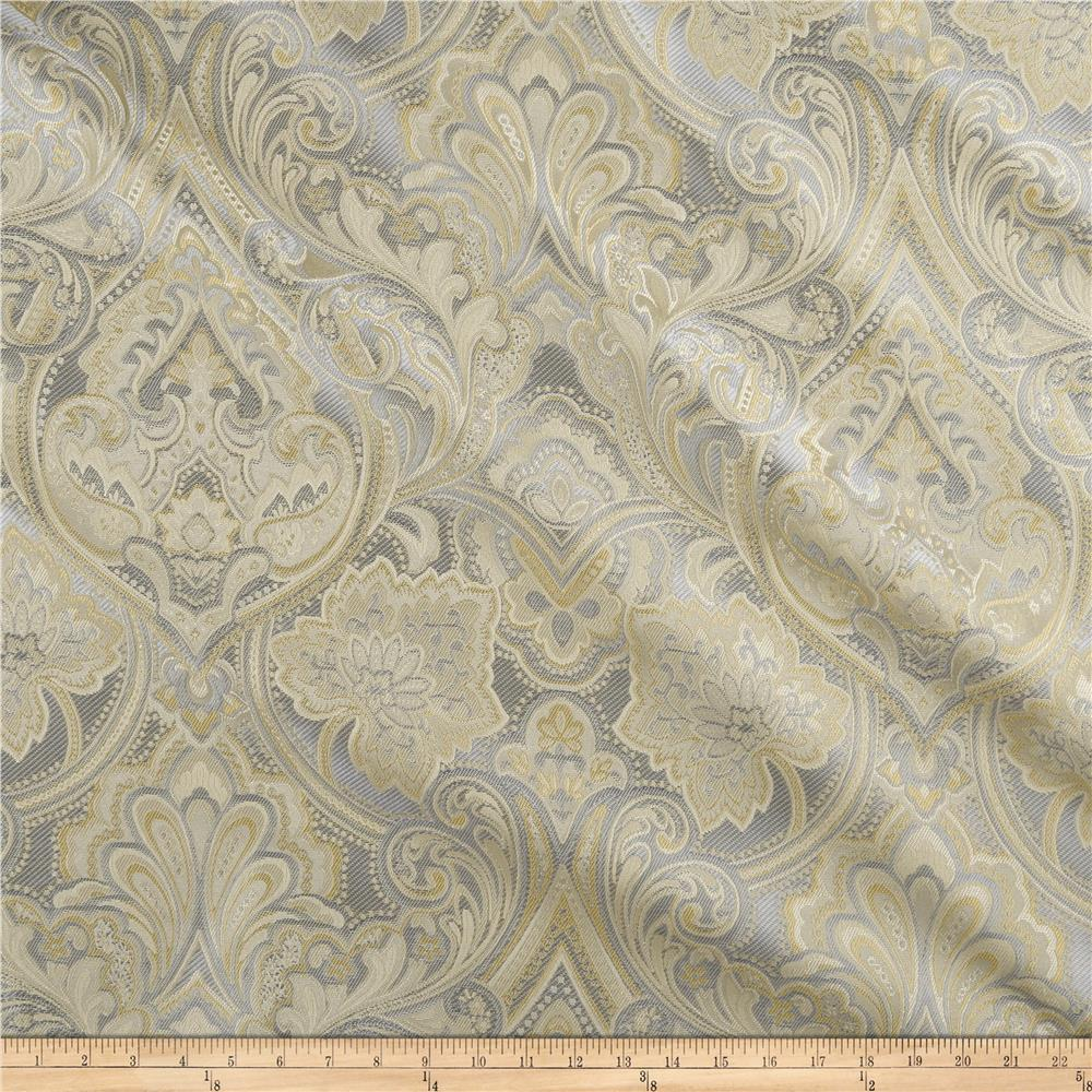 Eroica hollyhock damask jacquard delft discount designer for Jacquard fabric