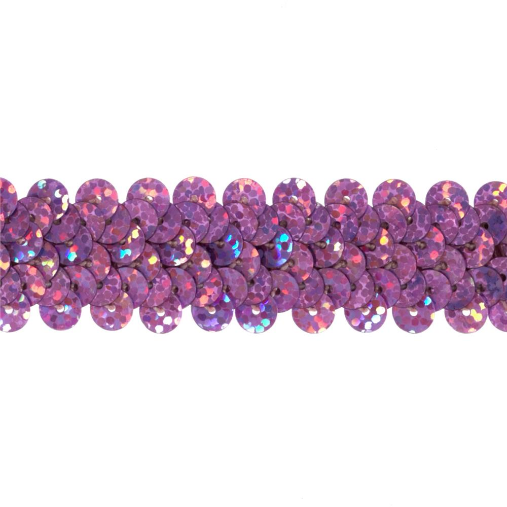 "7/8"" Hologram Stretch Sequin Trim Fuchsia"