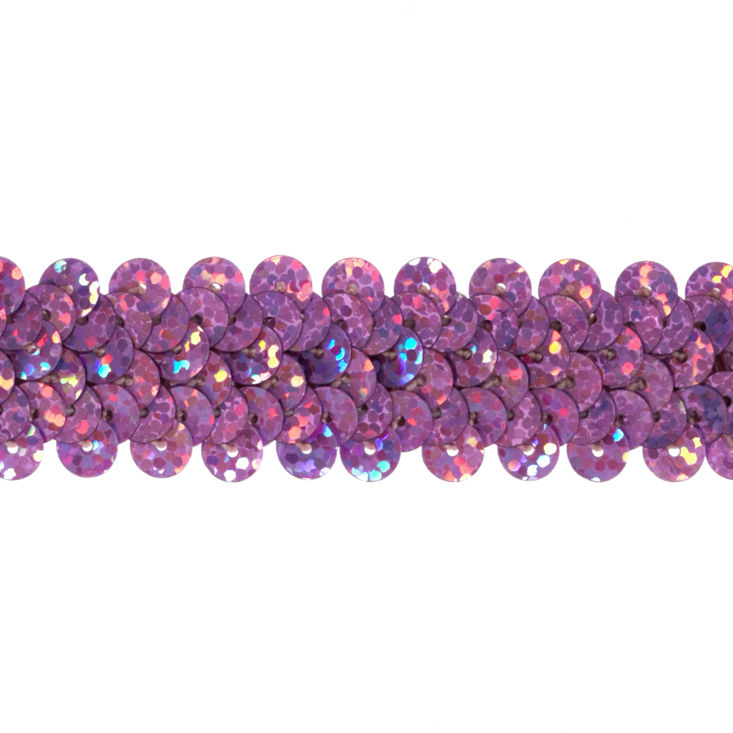7/8'' Hologram Stretch Sequin Trim Fuchsia