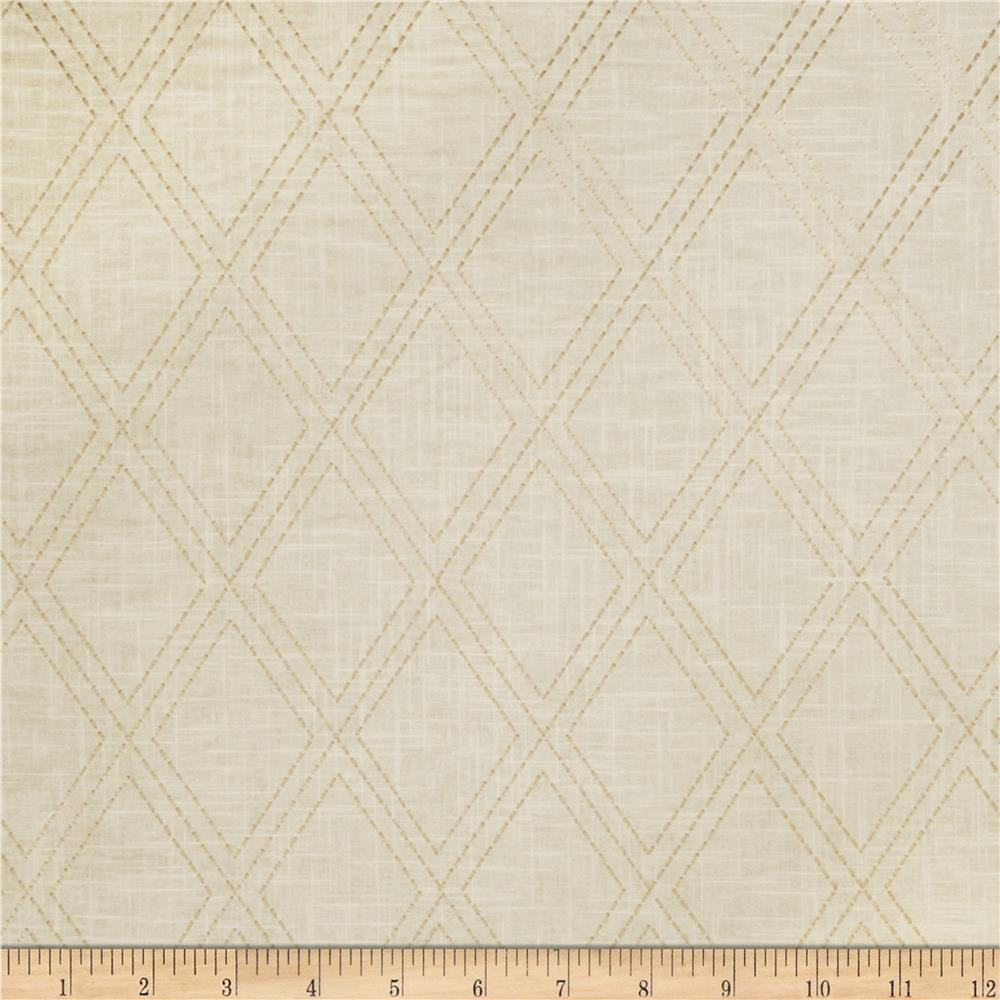 Jaclyn Smith 02615 Embroidered Diamonds Cashew