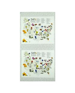 Moda State Flowerscape State Flower Map Panel Ivory