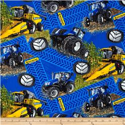 New Holland Combine Tire Tracks Allover Multi Fabric