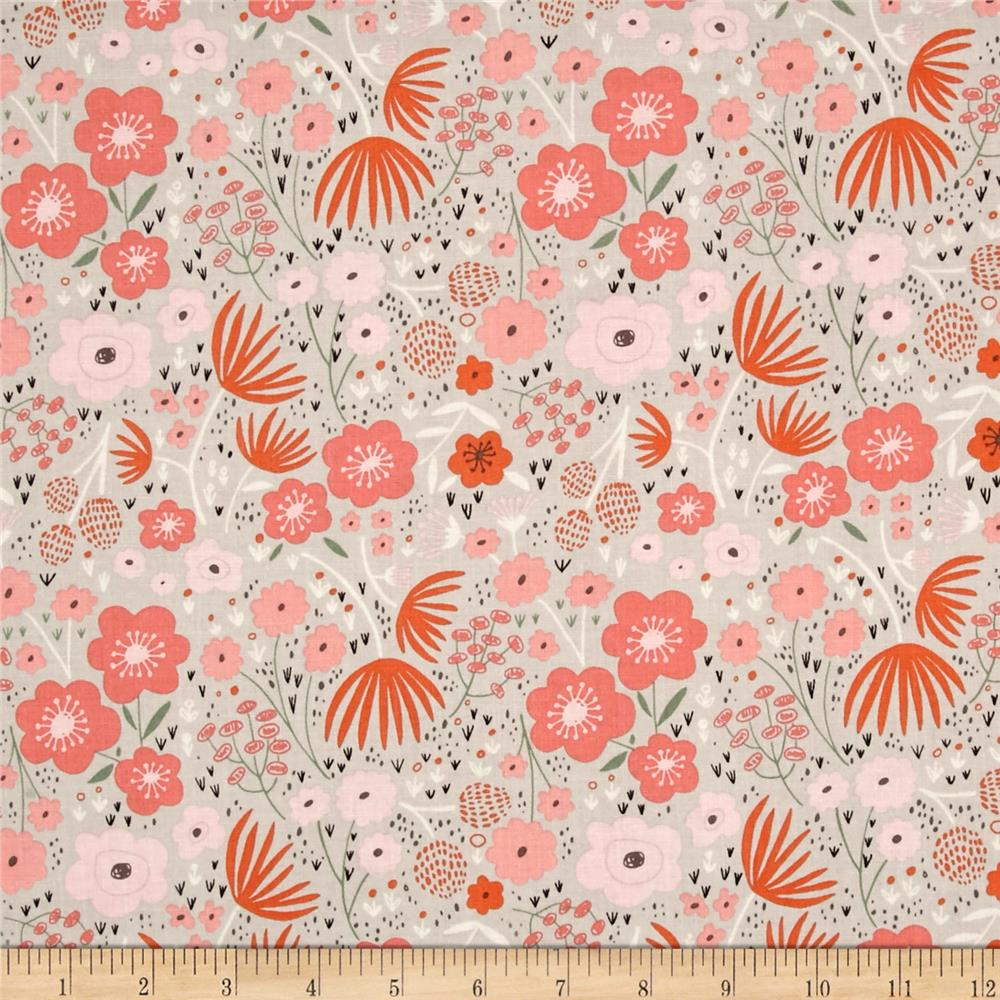 Riley Blake Ava Rose Floral Gray Fabric