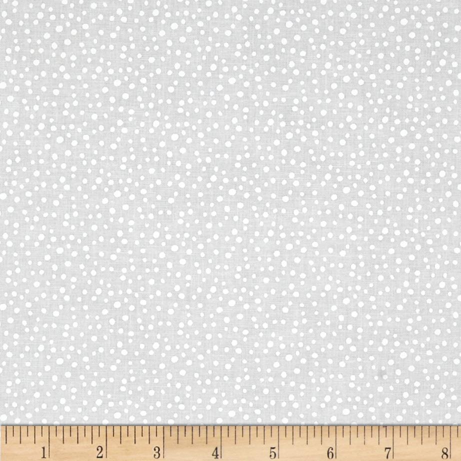 Essentials Petite Dots White on White