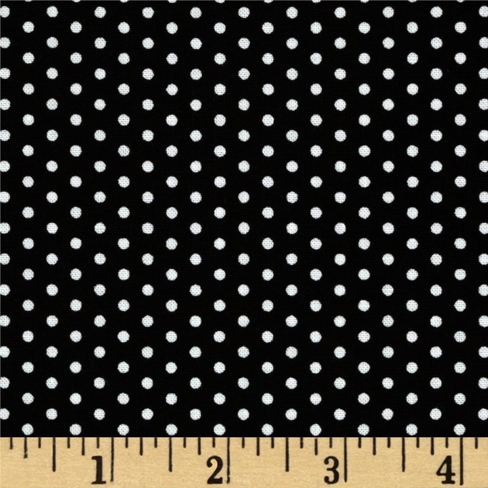 Kaufman Spot On Pindot Black