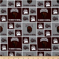 Collegiate Cotton Broadcloth University of Montana Fabric