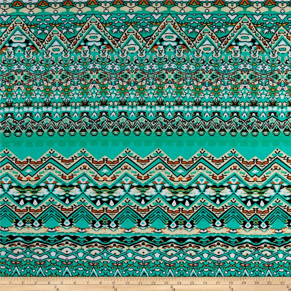 Ethnic Stretch ITY Jersey Knit Jade