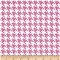 The Farm at Whistle Pig Creek Flannel Houndstooth Pink