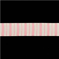 "Riley Blake 5/8"" Grosgrain Ribbon Stripes Pink"