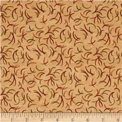 Moda Endangered Sanctuary Flannel Antlers Pecan