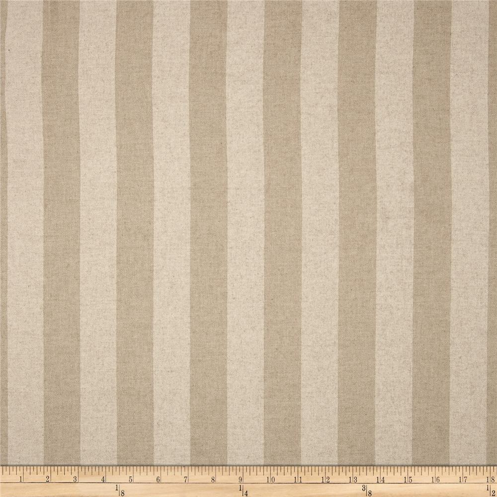 Premier Prints Canopy Stripe Blend Cloud/Oatmeal Fabric