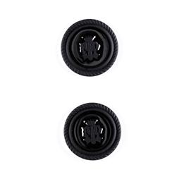 "Metal Button 7/8"" Royal Crest Black"