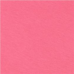 Cotton Poly Jersey Blend Knit Candy Pink