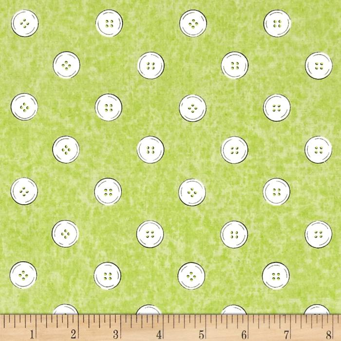 Letter Stitch Buttons Green