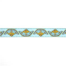 1-1/2'' Anna Maria Horner Yarrow Flower Ribbon Gold/Light