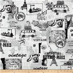 Contempo Vintage Scrapbook Vintage Scrapbook Black/White Fabric