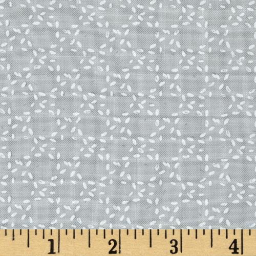 Moda Modern Background Ink Stitched Circles Zen Grey