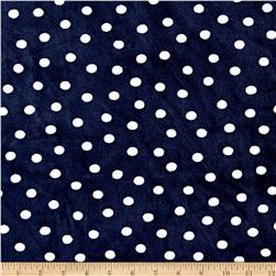 Shannon Minky Cuddle Prints Alotta Dots Navy