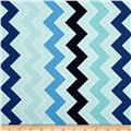 Riley Blake Medium Shaded Chevron Ocean
