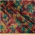 Indian Batik Montego Bay Gold Circles Dusty Multi