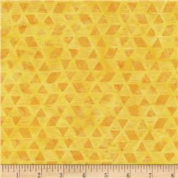 Timeless Treasures Tonga Batik Carnivale Origami Lemon
