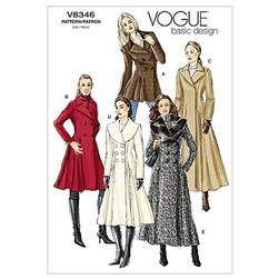 Vogue Misses' Coat Pattern V8346 Size 0A0