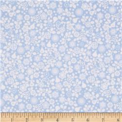 OOO Baby Flannel Tonal Fruit Blue Fabric