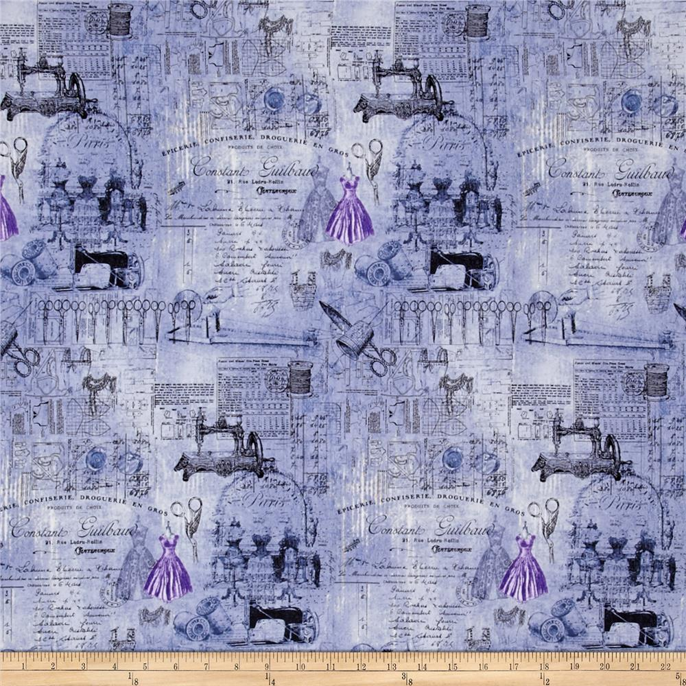 Oh Sew Beautiful Collage Blue/Lavender