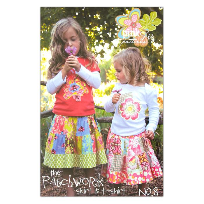 The Pink Fig Girls Patchwork Skirt & T-shirt Pattern Booklet