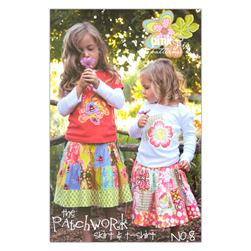 The Pink Fig Girls Patchwork Skirt & T-shirt
