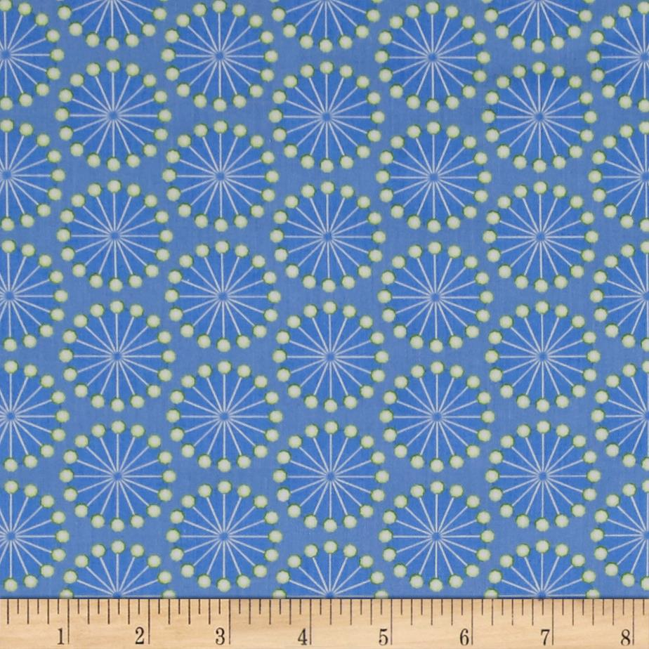 Sewing room pins peri blue discount designer fabric for Cheap sewing fabric