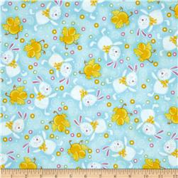 A Joyful Easter Bunnies & Chicks Blue