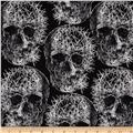 Michael Miller Freak Out Skulls Grey