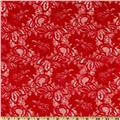 Capri Floral Lace Fabric Red