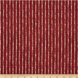 Magnolia Home Fashions Skyfall Stripe Crimson