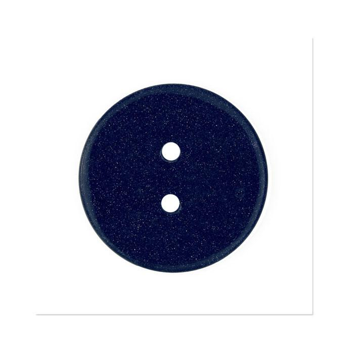 Precious Elements Stone Golden Sand Button 1 1/4''  Navy