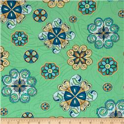 Majestic Beauties Medallions Green