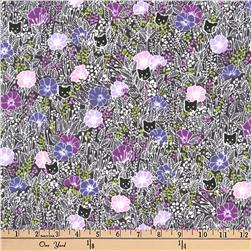 Kaufman London Calling Lawn Etching Purple