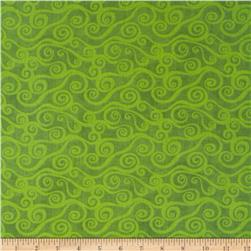 "108"" Wide Quilt Back Swirly Scroll Lime"