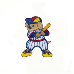 Baseball Dog Applique Blue