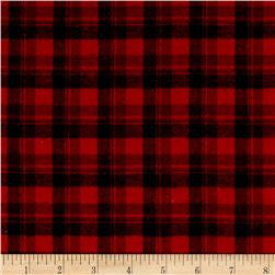 Yarn Dyed Flannel Plaid Red Black