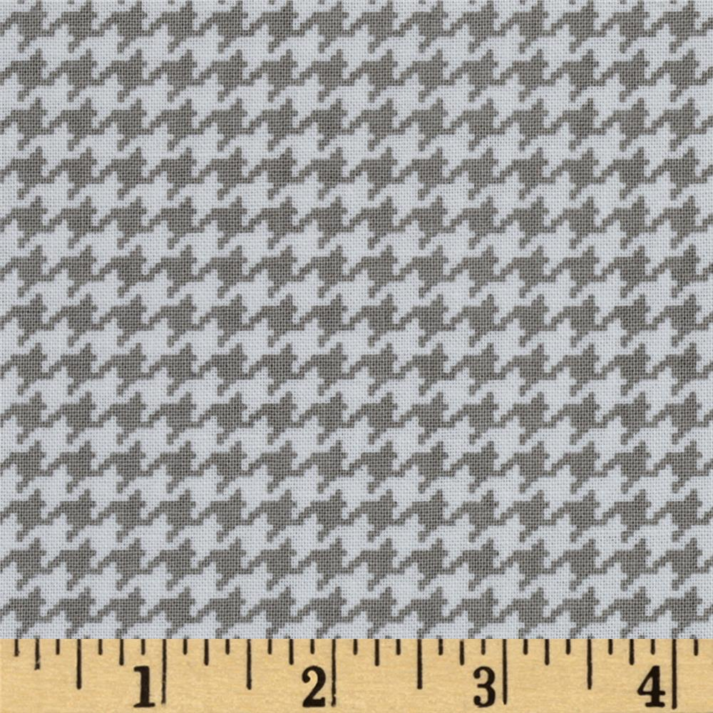 Michael Miller Tiny Houndstooth Stone