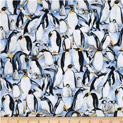 Timeless Treasures Stacked Penguins Penguin