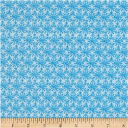Winter Magic Flannel Snowflakes Light Blue