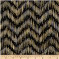 Imperial Collection Metallics Dash Chevron Black