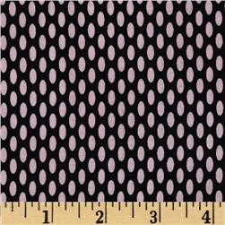 World of Romance Oval Dot Black/Pink Fabric
