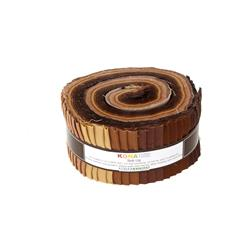 Robert Kaufman Kona Solids Sediment 2.5 In. Jelly Roll