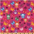 Skelanimals & Butterflies Hot Pink