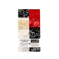 "Timeless Treasures Tonga Batik Rose 2.5"" Strips Half Pack"