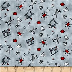 Born to Sew Sewing Accessories Mini Grey